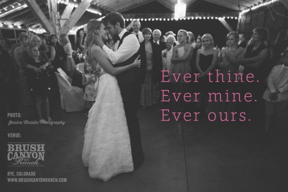 ever thine. ever mine. ever ours.