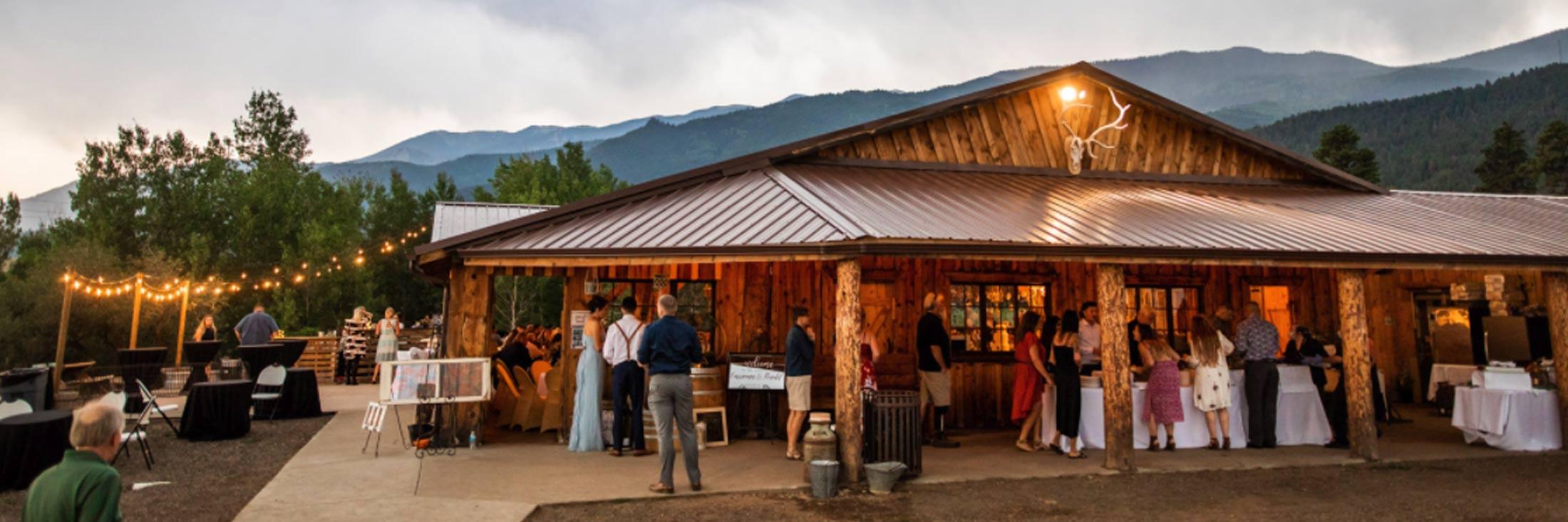 Colorado Mountain Ranch Barn Wedding Venue
